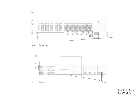 Casa Ortiz Madrid ELEVACIONES 1