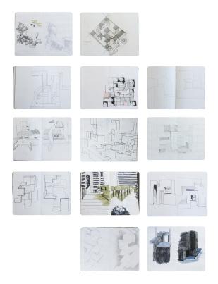 Dibujos Exploratorios Modelo/ Emplazamiento